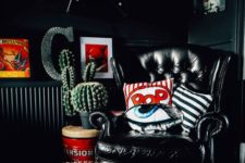 04 touches of white and red make this dark nook bolder, cooler and more welcoming