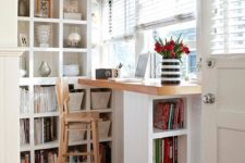10 if you don't need much space for something, squeeze it into a small nook or corner, like here a home office