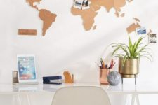 cork home decor for a home office
