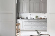 13 a grey kitchen is a huge trend as grey is the new black and it looks soothing and relaxing