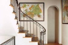 14 a gallery wall with various maps is a cool idea to substitute a traditional gallery wall with photos and artworks