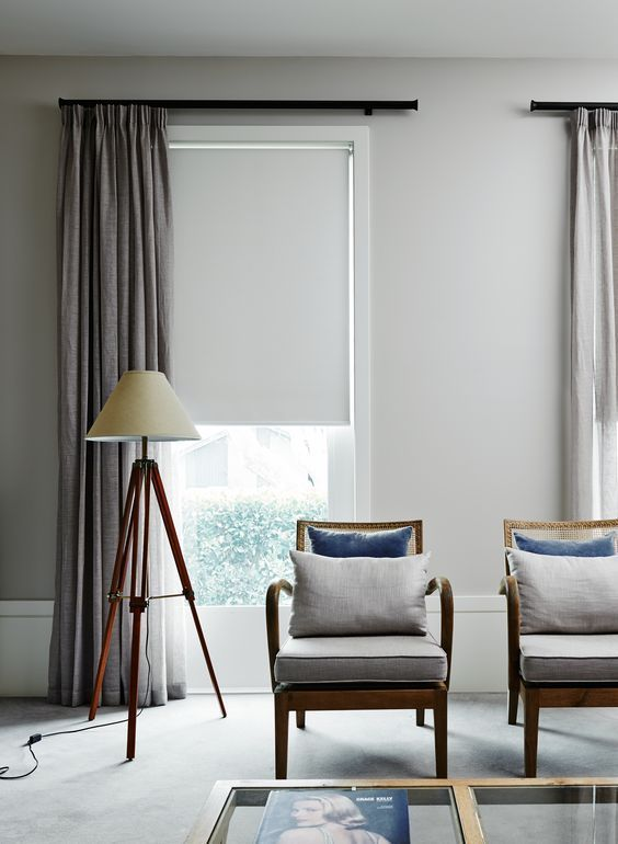 roller shades easily fit most of decor styles including the most contemporary and minimalist ones