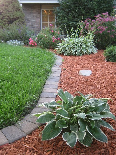 elegant garden brick edging is a cool idea for most of gardens, it will easily fit almost any space