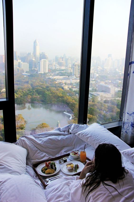 if it's a bedroom, place your bed so that you could enjoy the views you have as much as possible