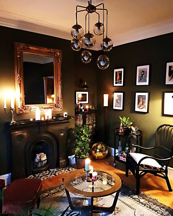 lots of candles can be a nice idea for making a moody space brighter and more inviting