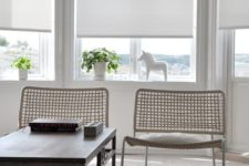 16 simple white roller shades are great for modern interiors, they are very laconic and easy to install