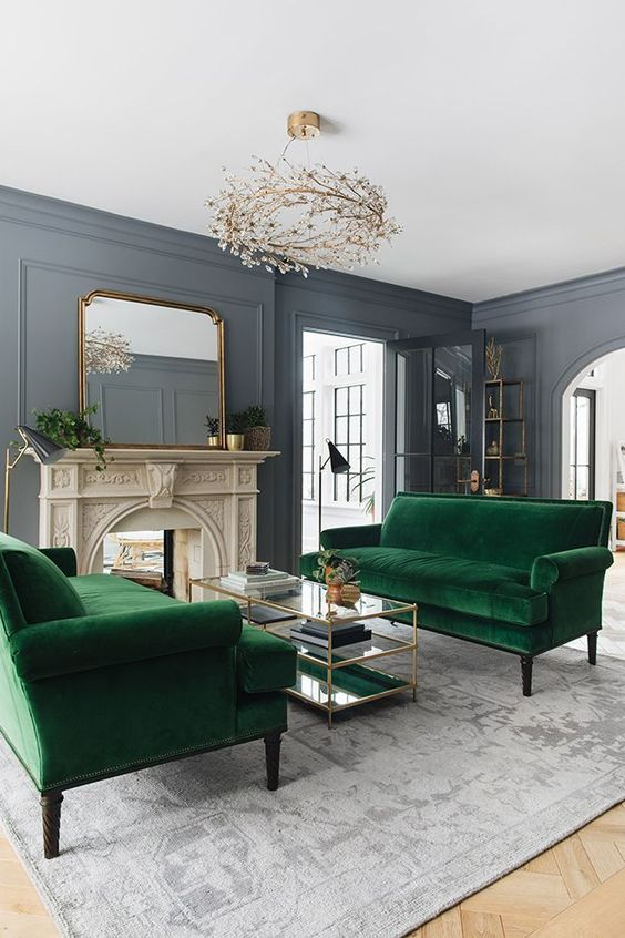 velvet is a very cozy fabric and if you take velvet upholstered sofas, they will cozy up the space a lot
