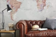 17 a large wall mural in a vintage meets boho living room is a beautiful and chic idea to try