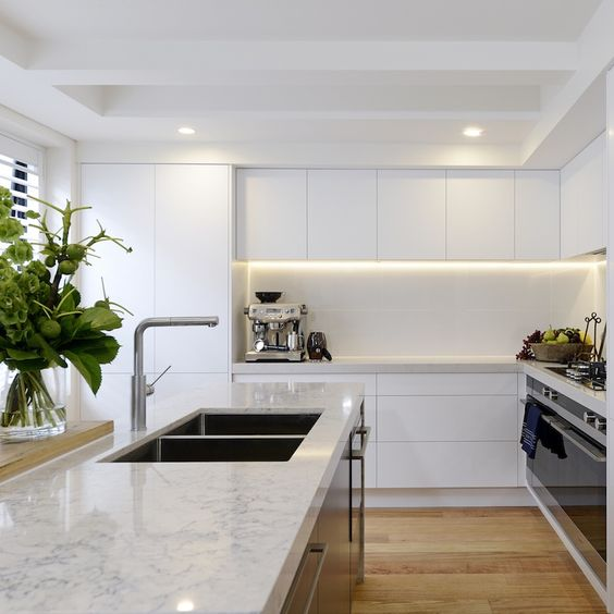 adding strip lights to upper cabinets gives your more light in the cooking zone and you'll enjoy comfort