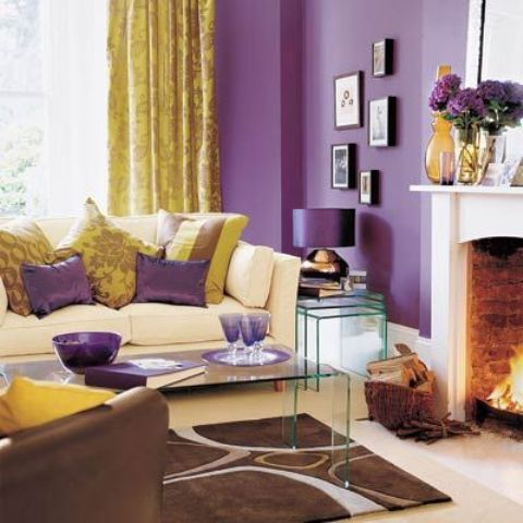 purple and yellow is a very bold and exquisite color scheme to opt for while decorating
