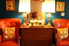 20 dark green and orange is a fantastic and bright color combo for those who want a complementary color scheme