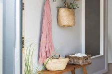 20 some hooks and a shelf to let your guests leave their clothes and accessories here