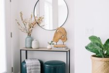22 artworks and branch or bloom arrangements will create a stylish and welcoming entryway