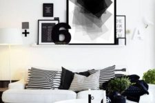 23 black, grey and white is also an analogous color scheme, which can be refreshed with greenery