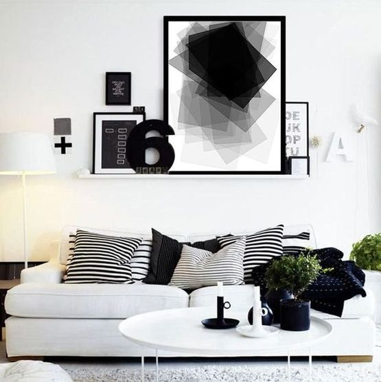black, grey and white is also an analogous color scheme, which can be refreshed with greenery