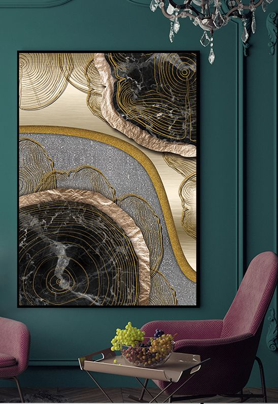 such a gorgeous abstract artwork will make a bold statement in any space and will add a refined touch