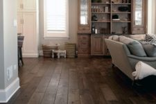 24 choose dark hardwood floors to make a statement and add texture to the space
