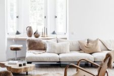 24 layer up neutrals using an analogous color scheme, it's a fresh and cool idea