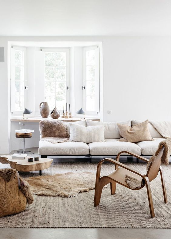 layer up neutrals using an analogous color scheme, it's a fresh and cool idea