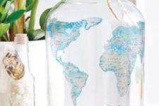 25 a world map jar with coins from various countries is a cool idea if you collect them, or is a good alternative to a piggy bank to save money for holidays