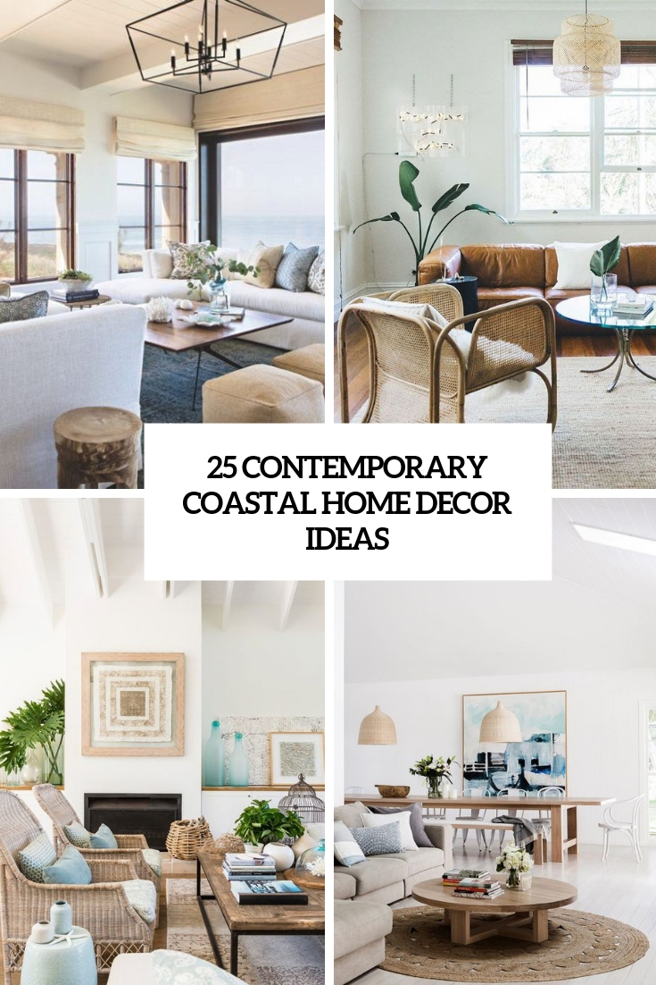 contemporary coastal home decor ideas cover