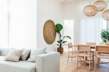 25 light-colored hardwood floors also look cool, especially if you highlight them with some decor elements