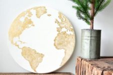 26 world map globe sign can be used to decorate any space in any style – it always matches
