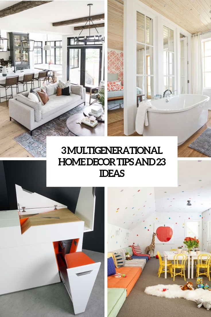 3 multigenerational home decor tips and 23 ideas cover