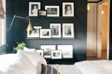 35 add a gallery wall of family photos using inexpensive photo ledges to cozy up the space