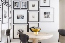 36 cozy up your awkward nook with a large gallery wall in the same frames