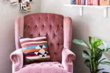 37 heirloom chairs like this pink one can be a nice idea to make your space personalized