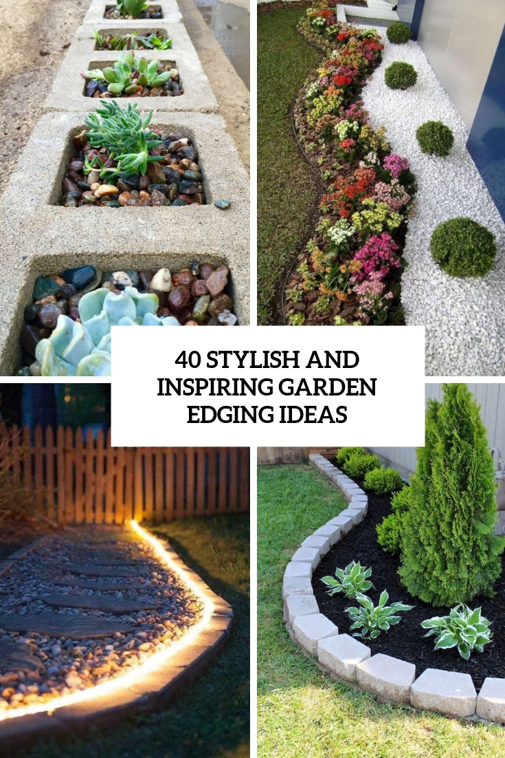 stylish and inspiring garden edging ideas cover
