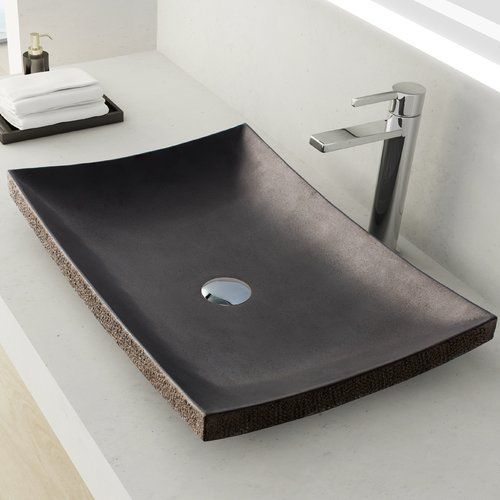 a rectangular stone sink in a matte finish is a chic idea for a minimalist or masculine bathroom