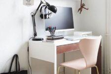 a girlish IKEA Micke desk hack
