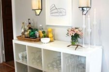 ikea kallax home bar hack
