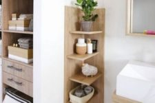 03 a comfortable wooden shelving unit with a base is ideal for a contemporary bathroom