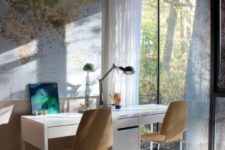 how to use IKEA Micke desks for a shared home office