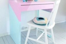 04 a bold color block Micke hack in pastel shades with geometric touches is great to add a touch of color to your working space