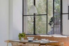 a cozy breakfast nook by the window