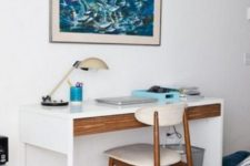 06 hack your Micke desk with a wooden drawer or just covering the existign one with contact paper