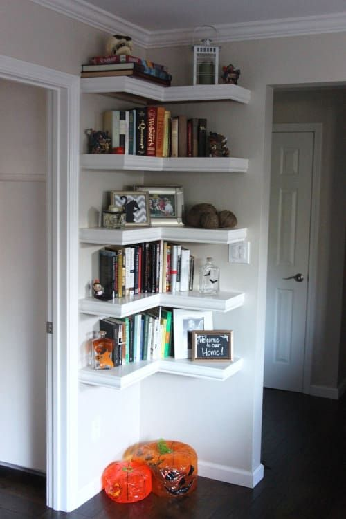 corner bookshelves will give your dead space a new life and will give your additional storage