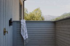 a small yet particle outdoor shower