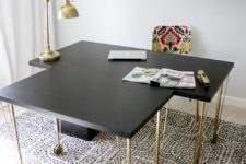 14 a desk of an IKEA Linnmon tabletop, Krille legs and an Alex drawer unit is a large unit ideal for work