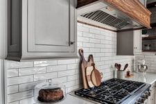glossy tile backsplash