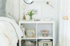 ikea kallax shelf as a night stand
