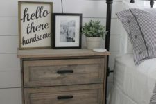 20 an IKEA Rast dresser hacked with stain and black handles will easily fit a rustic or farmhouse bedroom
