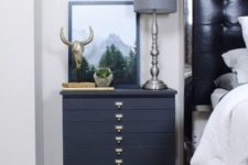 23 an IKEA Rast transformation with midnight blue paint, planks and vintage handles for a touch of chic