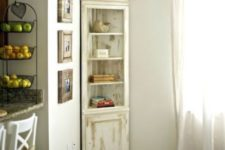 24 a distressed neutral corner cabinet is a chic idea for a living or dining room, you can DIY one