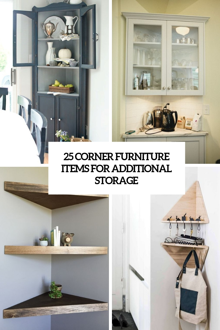 25 Corner Furniture Items For Additional Storage