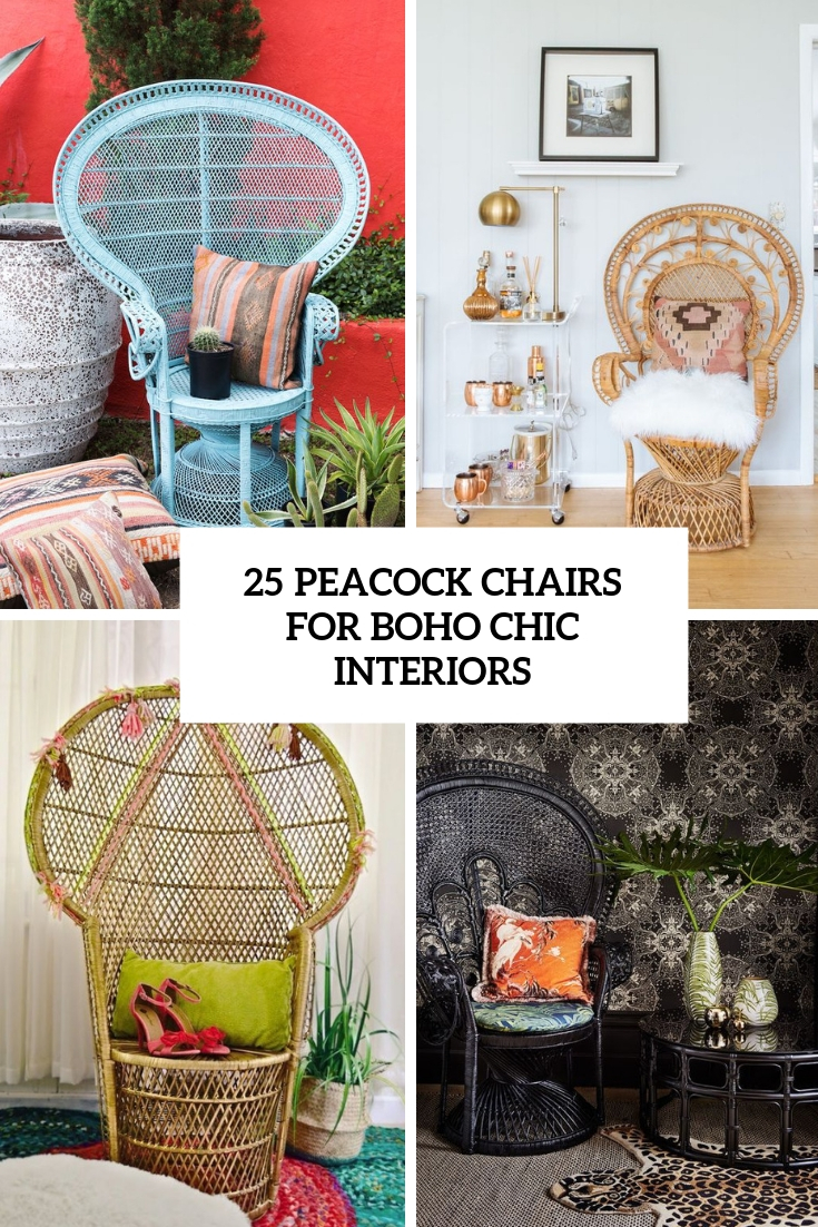 25 Peacock Chairs For Boho Chic Interiors